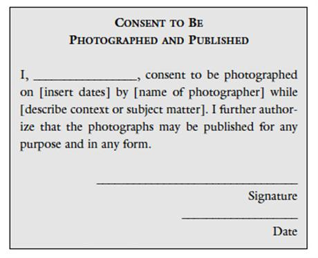 The Role of Permission in Photography – Photographer Release Forms