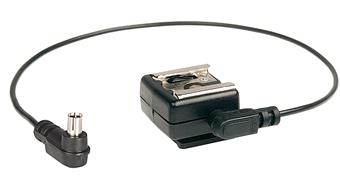 Kaiser PC to Hot Shoe Adapter with Cable