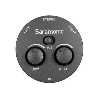 Saramonic AX1 Miniature 2-Channel 3.5mm Microphone & Audio Mixer with TRS & TRRS Output Cables for Cameras, Smartphones, Computers & More