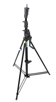 Kupo 12' Steel Black Wind-Up Stand w/Auto Self Locking Device