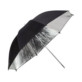 Phottix Reflective Studio Umbrella, Silver/ Black - 33in/ 84cm