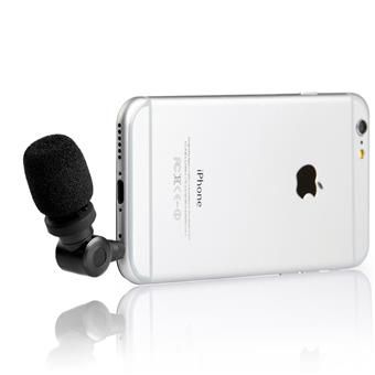 Saramonic Smartmic Mini Directional Microphone for Select Apple iPhone or iPad and Android Smartphones or Tablets