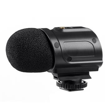 Saramonic SR-PMIC2 Battery-Free On-Camera Stereo Microphone for DSLRs, Mirrorless, Video Cameras and Audio Recorders
