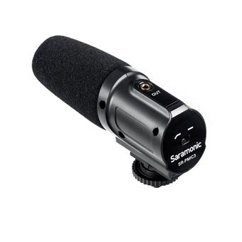 Saramonic SR-PMIC3 Battery-Free Surround Microphone for DSLRs, Mirrorless, Video Cameras and Audio Recorders