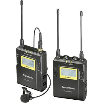 Saramonic UwMic9 RX9+TX9 UHF Wireless Lavalier Mic System with Dual-Channel Receiver for DSLRs, Mirrorless Cameras and Video Cameras