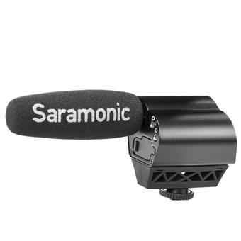 Saramonic Vmic Recorder On-Camera Shotgun Microphone with Built-In Audio Recorder for DSLRs, Mirrorless and Video Cameras