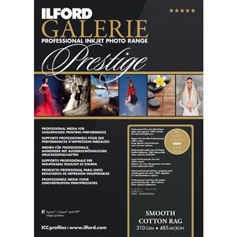 ILFORD Smooth Cotton Rag 8.5x11-25 Sheet Count